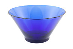 Blue salad bowl Stock Photo