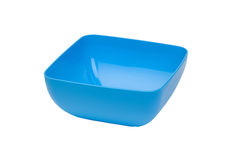 Blue salad bowl Stock Images