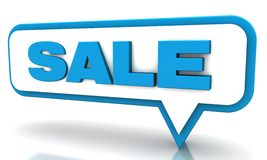 Blue sale balloons Royalty Free Stock Images