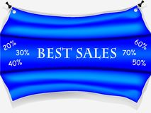 Blue sale poster Royalty Free Stock Images