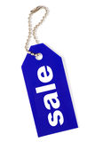 Blue sale tag isolated Royalty Free Stock Photography