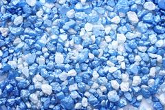 Blue salt. Blue sea salt texture close up Royalty Free Stock Photos