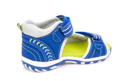 Blue sandal for kid Stock Image