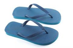 Blue sandals stock photos
