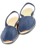 Blue Sandals Avarcas Royalty Free Stock Image