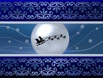 Blue Santa Background Royalty Free Stock Photo