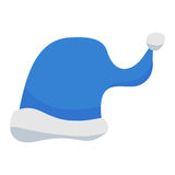 Blue Santa Claus Hat Stock Photography