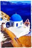 Blue Santorini Royalty Free Stock Images