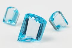 Blue sapphire Stock Photography