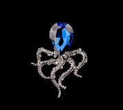 Blue sapphire brooch Stock Photography