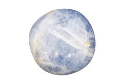 Blue sapphire cabochon. A blue sapphire free form cabochon on white Royalty Free Stock Image