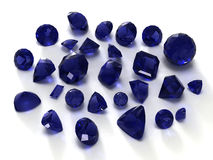 Blue sapphire gems Royalty Free Stock Image
