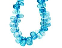 Blue sapphire gemstone beads necklace jewelery Stock Images