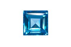 Blue sapphire isolated Royalty Free Stock Images