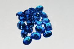 Blue sapphire loose gemstone Stock Photo