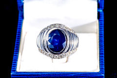 Blue Sapphire ring Stock Photography