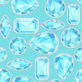 Blue Sapphire seamless pattern Stock Photo
