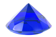Blue sapphire stone Royalty Free Stock Image