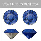 Blue Sapphire Vector file Royalty Free Stock Image