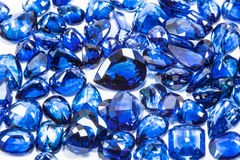 Blue sapphires. Group of the blue sapphires Royalty Free Stock Photos