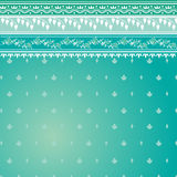 Blue sari pattern. Blue indian sari background with traditional floral pattern Royalty Free Stock Photos