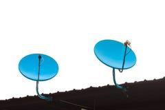Blue satellite dish Stock Photography