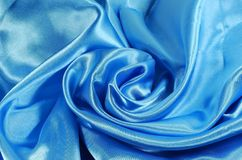 Blue satin Stock Images