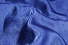 Blue satin Royalty Free Stock Photos