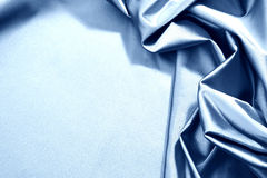 Blue satin Royalty Free Stock Photo