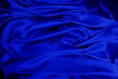 blue satin Obraz Stock