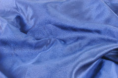 Blue satin alpha Stock Image