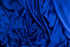 Blue satin background Royalty Free Stock Photography
