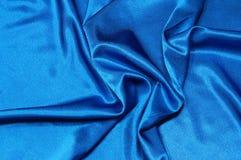 Blue satin background Royalty Free Stock Photos