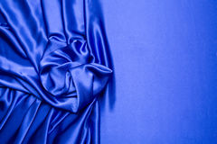 Blue satin background Stock Image