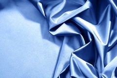 Blue satin Royalty Free Stock Photography