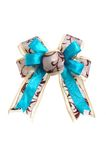 Blue satin bow Stock Image
