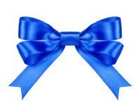 Blue satin bow Royalty Free Stock Photos