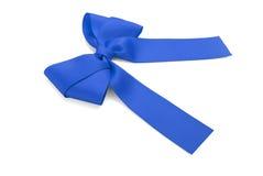 Blue satin bow. Royalty Free Stock Image