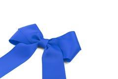 Blue satin bow. Stock Image