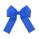 Blue satin bow. Royalty Free Stock Images