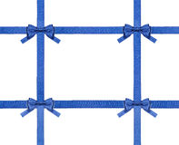 Blue satin bows and ribbons isolated - set 30 Royalty Free Stock Image