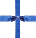 Blue satin bows and ribbons isolated - set 12 Stock Photos