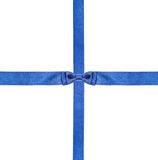 Blue satin bows and ribbons isolated - set 8 Stock Image
