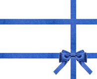 Blue satin bows and ribbons isolated - set 27 Stock Photos