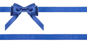 Blue satin bows and ribbons isolated - set 20 Royalty Free Stock Photos