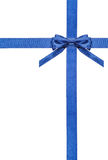 Blue satin bows and ribbons isolated - set 5 Stock Photography