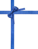 Blue satin bows and ribbons isolated - set 6 Stock Photo