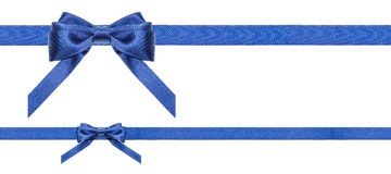 Blue satin bows and ribbons isolated - set 35 Royalty Free Stock Photos