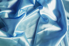 Blue satin Royalty Free Stock Images