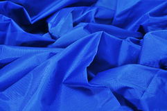 Blue satin fabric Stock Images